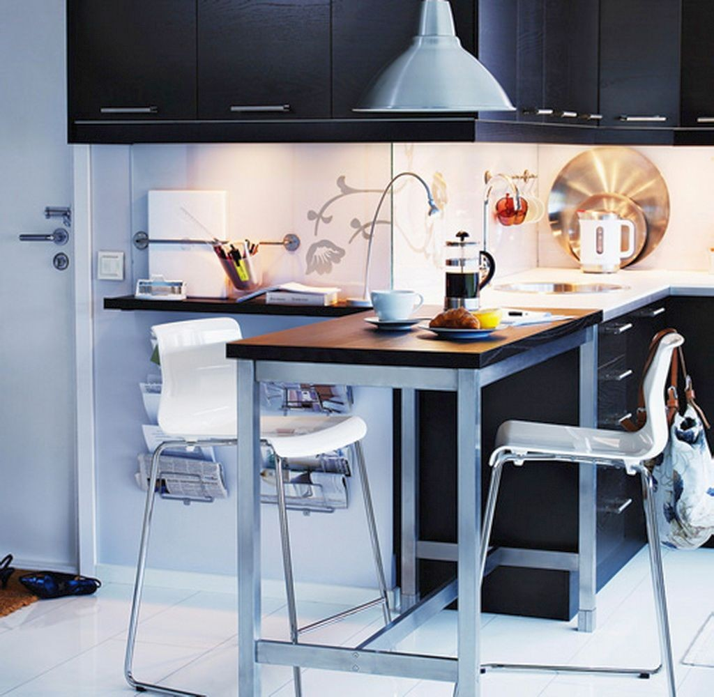 20 minimalist modern kitchen tables for small spaces for New kitchen small space