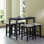 modern kitchen tables for small spaces in dark wood