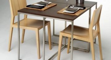 modern kitchen tables for small spaces in rustic color