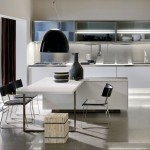 modern kitchen tables for small spaces in white industrial