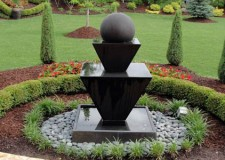 modern landscape fountain design ideas