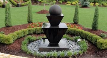 modern landscape fountain design ideas
