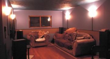 modern lighting ideas for basement