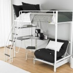 modern loft bed with desk white with sofa bed