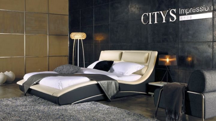 modern masculine curved bed designs