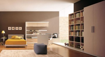 modern mens bedroom with wide space