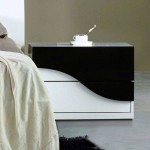 modern nightstands white and black