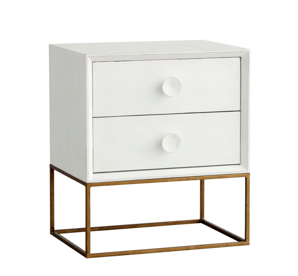 Glass And Metal Nightstands