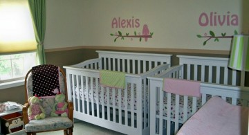 modern nursery room design ideas for twins