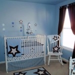 modern nursery room design ideas in blue