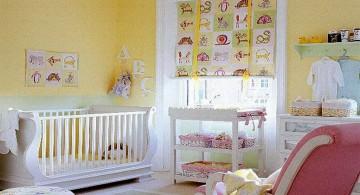 modern nursery room design ideas in pastels