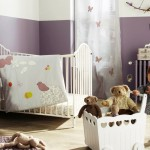 modern nursery room design ideas in purple