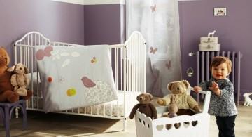 modern nursery room design ideas in purple