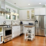 modern painted floors inspiration in classic white kitchen