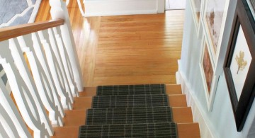 modern painted floors inspiration with staircase carpet