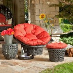 modern papasan chair for outdoor living room
