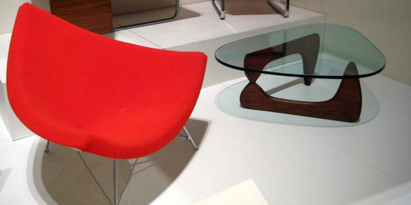 modern papasan chair in red for minimalist room