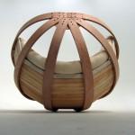 modern papasan chair made from bamboo