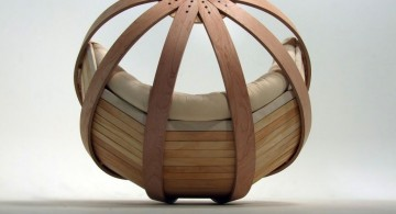 modern papasan chair made from bamboo