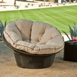 modern papasan chair made from rattan for outdoor