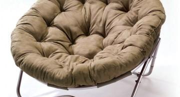modern papasan chair with industrial leg