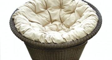 modern papasan chair with plush cushion
