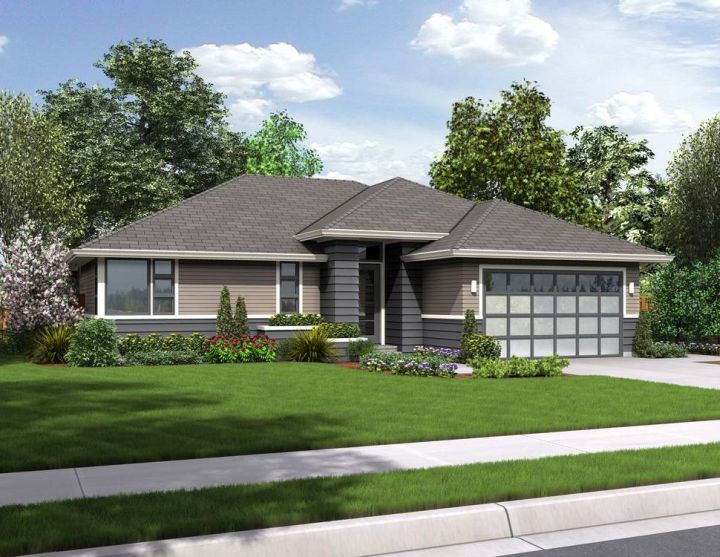 A modern twist on classic prairie style house for Modern prairie style homes