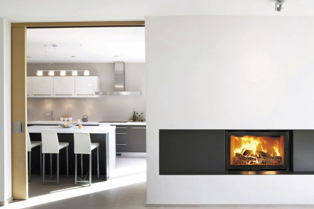 19 Modern Living Room Designs With Dining Area Decorations: 19 Sleek Modern White Fireplace Designs