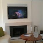 modern white fireplace design under the tv