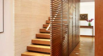 modern wooden stairs