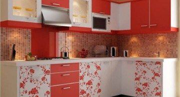 modular kitchen designs in orange with some design