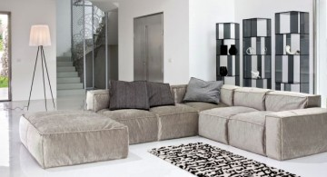 modular sofas in grey