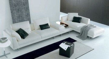 modular sofas in monochrome