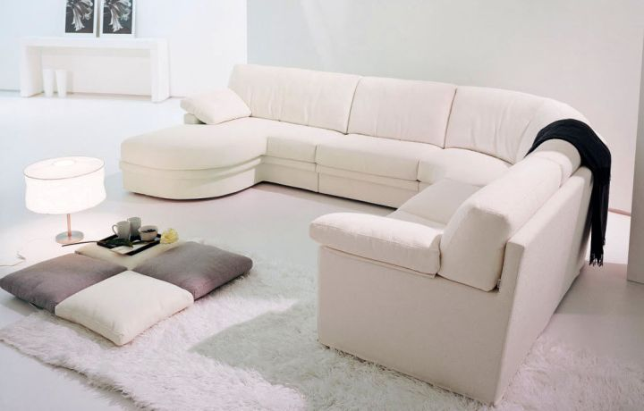modular sofas in white