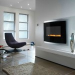 mounted modern fireplace designs with glass