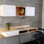 mounted on wall minimalist office furniture