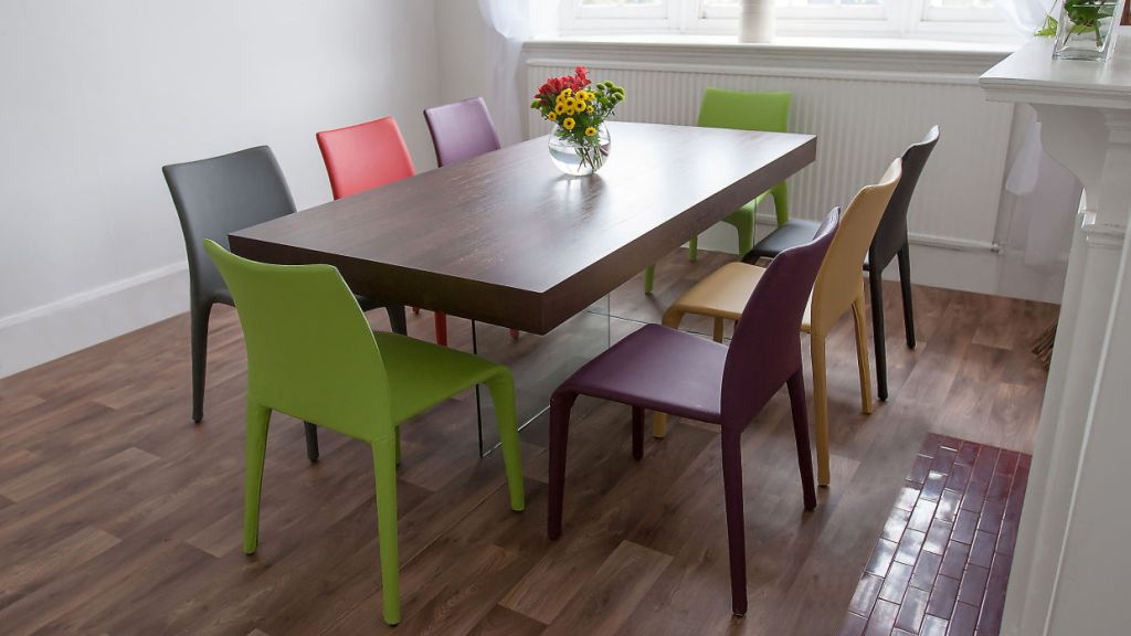 20 fun multi colored dining chairs for Different color chairs