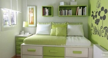 murphy bed design ideas for small rooms green and white toned room for girls
