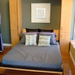 murphy bed design ideas for small rooms in blue and cream