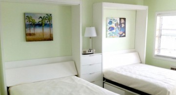 murphy bed design ideas for small rooms with twin beds