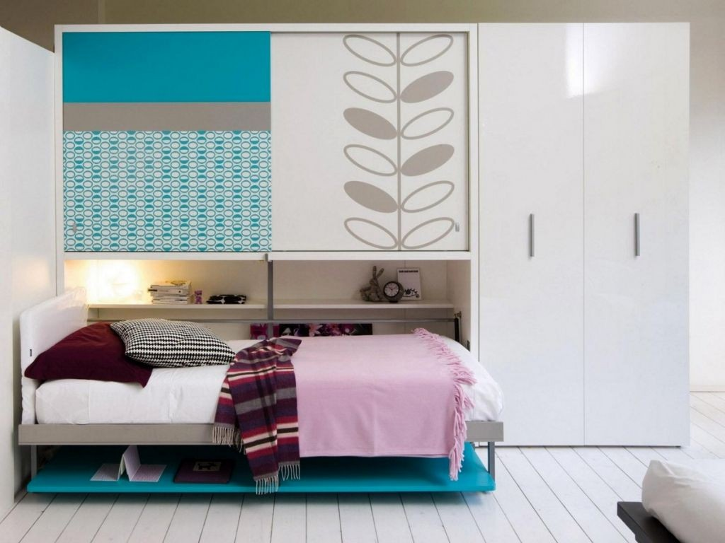 murphy bed design ideas for small rooms with white storage