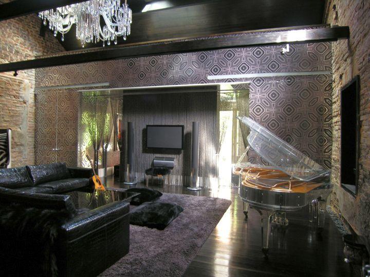 music room designs in classy black
