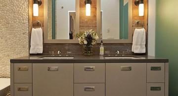 natural themed master bathroom lighting ideas