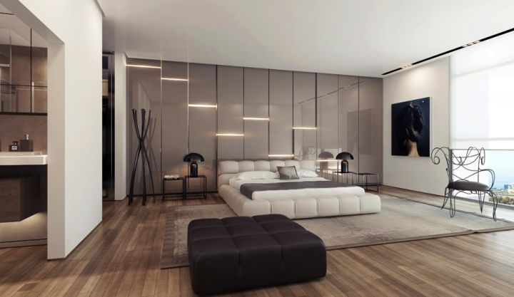 modern asymmetric wall panels | Interior Design Ideas.