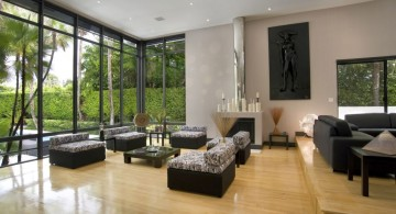 nature themed japanese inspired living room