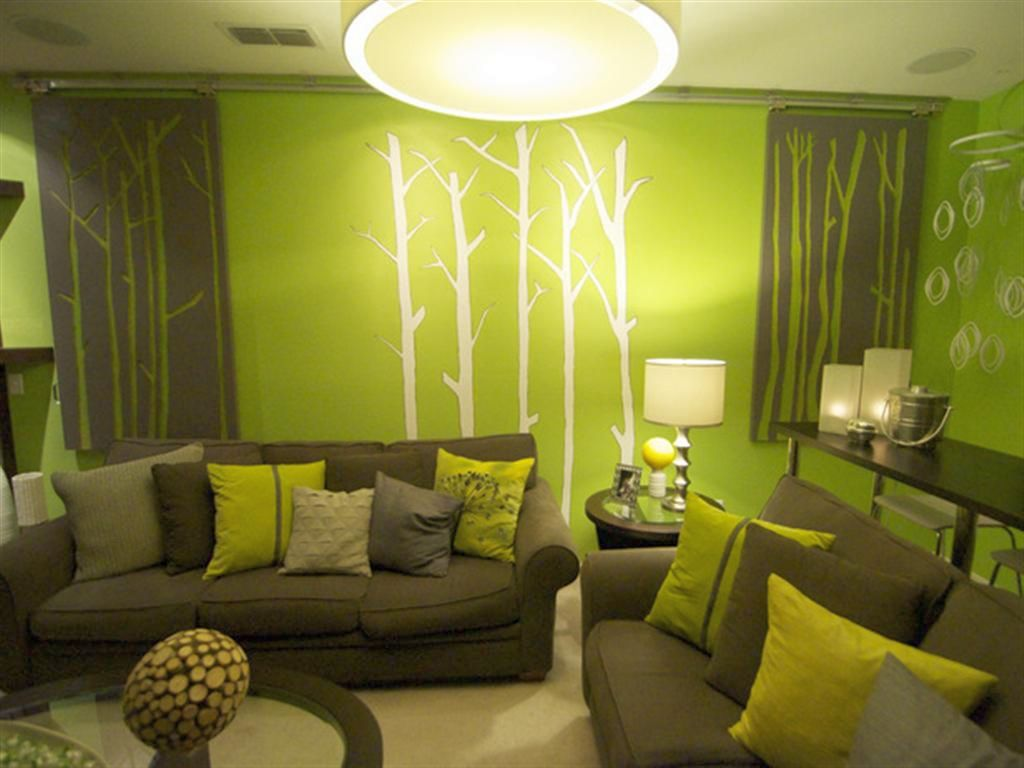 Living Room Yes Go Green Accent Walls Gallery For Lime