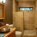 nature themed tiny bathroom design ideas