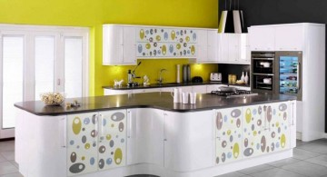 new modular kitchen designs in yellow and white