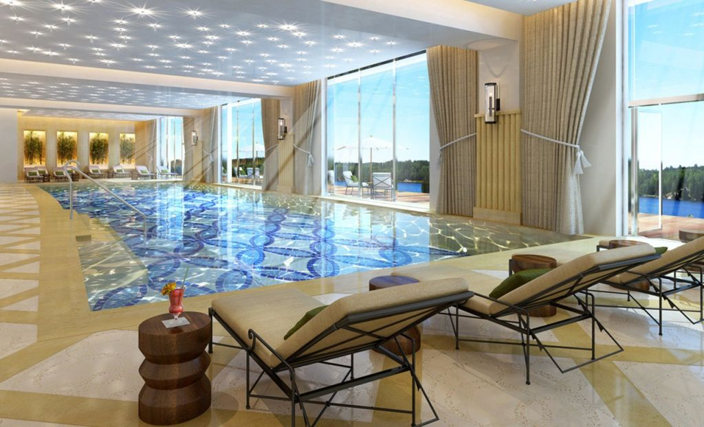 Nice Outlooking Apartment Indoor Swimming Pool Designs