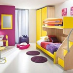nice rooms for girls with colorful bunk bed